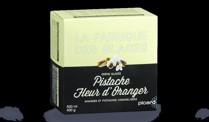 Pistache Fleur D Oranger Surgeles Les Glaces Sorbets Picard