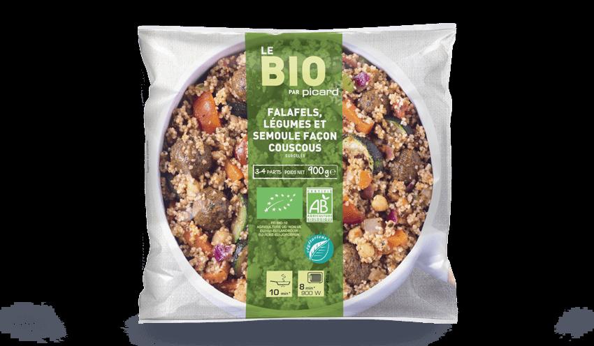 Falafels Legumes Et Semoule Facon Couscous Bio Surgeles Les
