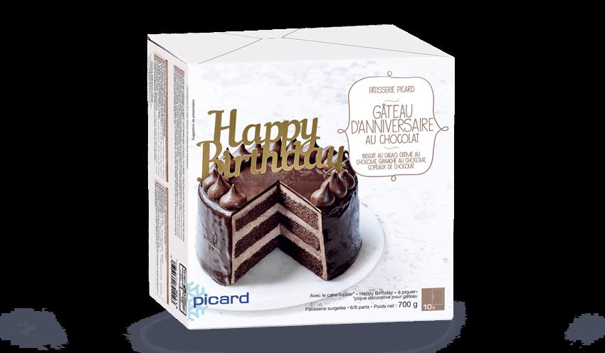 Gâteau Danniversaire Au Chocolat