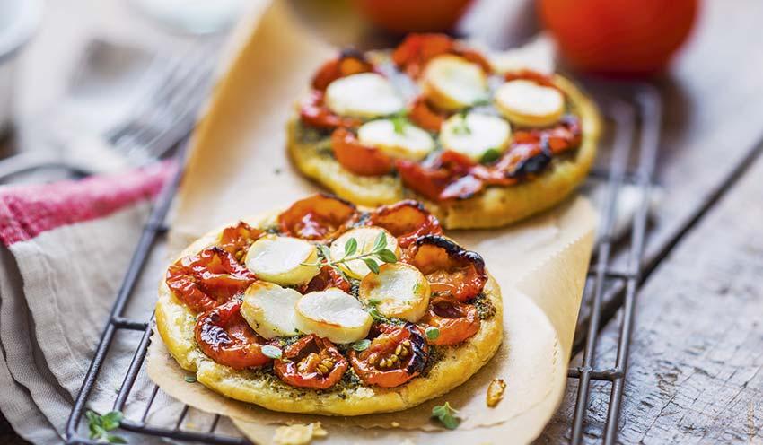 2 Tartelettes Fines Tomate Cerise Pesto Chevre Surgeles Les