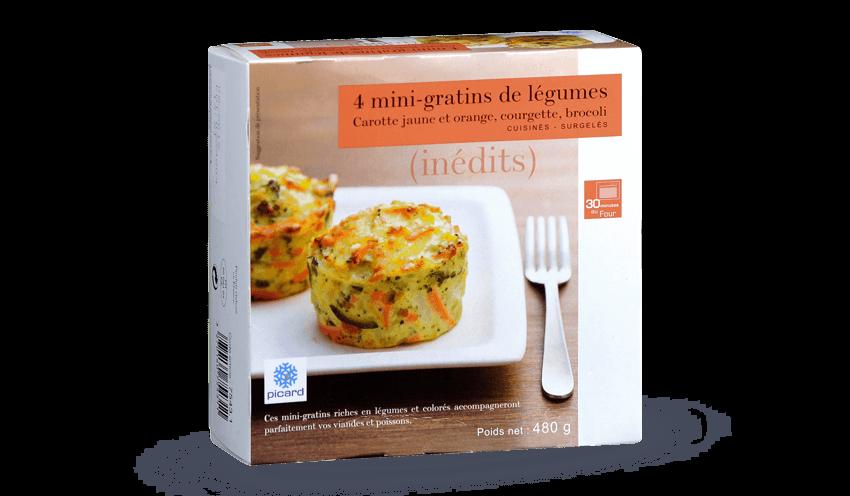 96b32b08411 4 mini-gratins de légumes surgelés - Les légumes - Picard