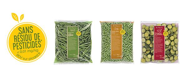 Légumes Picard sans résidu de pesticides