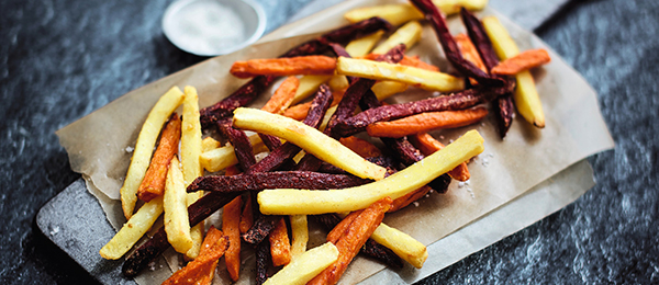 Pommes de terre préfrites Inédites aux trois légumes