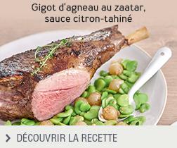 Recette Gigot d'agneau au zaatar, saucre citron tahiné anonyme