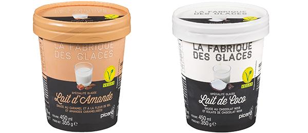 Les spécialités glacées véganes Picard lait d'amande et lait de coco