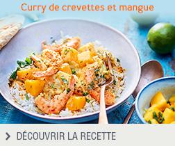Recette curry de crevettes et mangue anonyme