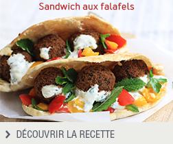 Recette sandwich aux falafels anonyme